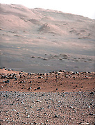 This image is from a series of test images to calibrate the 100-millimeter Mast Camera on NASA's Curiosity rover, looking south-southwest from the rover's landing site.