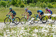 Lizzie Deignan (GBR) riding for Trek-Segafredo (2nd left) during Stage 2 of the OVO Energy Women's Tour 2019 at Cyclopark, Gravesend, United Kingdom on 11 June 2019.