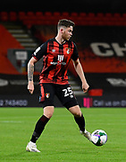 Jack Simpson (25) of AFC Bournemouth during the EFL Cup match between Bournemouth and Crystal Palace at the Vitality Stadium, Bournemouth, England on 15 September 2020.