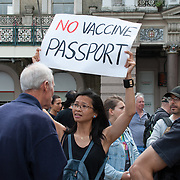 The people march No to vaccine passport