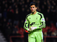 Nottingham Forest's Karl Darlow <br /> <br /> Photo by Chris Vaughan/CameraSport<br /> <br /> Football - The Football League Sky Bet Championship - Nottingham Forest v Burnley - Saturday 23rd November 2013 - The City Ground - Nottingham<br /> <br /> © CameraSport - 43 Linden Ave. Countesthorpe. Leicester. England. LE8 5PG - Tel: +44 (0) 116 277 4147 - admin@camerasport.com - www.camerasport.com