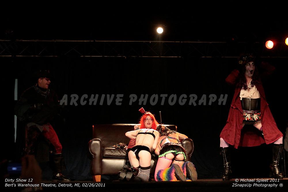 DETROIT, MI, SUNDAY, FEB. 27, 2011: Dirty Show 12, Sintuary at Bert's Warehouse Theatre, Detroit, MI, 02/27/2011.  (Image Credit: Michael Spleet / 2SnapsUp Photography)