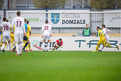 Ajdin Mullic of Domzale during football match between NK Domzale and NK Triglav in Round #18 of Prva liga Telekom Slovenije 2019/20, on November 23, 2019 in Sports park Domzale, Slovenia. Photo by Sinisa Kanizaj / Sportida