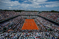 June 4, 2018 - Paris, U.S. - PARIS, FRANCE  - JUNE 04: RAFAEL NADAL (ESP) during French Open on June 04, 2018, at Stade Roland-Garros in Paris, France.(Photo by Chaz Niell/Icon Sportswire) (Credit Image: © Chaz Niell/Icon SMI via ZUMA Press)