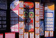 A728KA Shop window display in travel agents shop