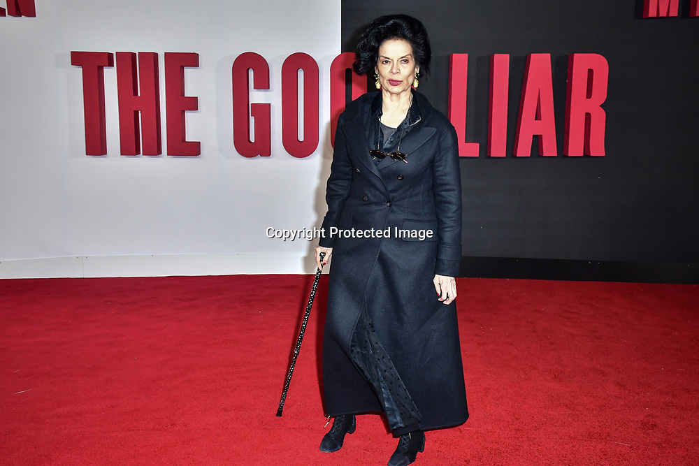 Bianca Jagger Arrivers at World Premiere of The Good Liar on 28 October 2019, at the BFI Southbank, London, UK.