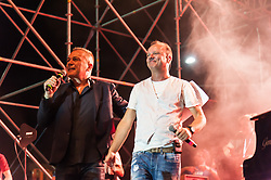 June 26, 2017 - Naples, Italy - Another great artist like Gigi D'Alessio on the stage at the Napoli Pizza Village at a free concert in collaboration with Radio RTL 102.5 among the enthusiasm of his many fans. (Credit Image: © Sonia Brandolone/Pacific Press via ZUMA Wire)