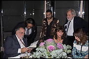 FRANCIS FORD COPPOLA; HANI FARSI; PABLO GANGULI; VALERIE WADE; DAVID PUTNAM; GIA COPPOLA, Liberatum Cultural Honour for Francis Ford Coppola<br /> with Bulgari Hotel & Residences, London. 17 November 2014