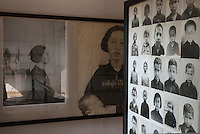 Images of prisoners at Tuol Sleng Genocide Museum, Phnom Penh, Cambodia