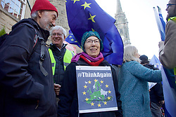 A woman demanding the UK stays in the EU during a rally to the Scottish Parliament 24032018 pic copyright Terry Murden @edinburghelitemedia 07971 686038