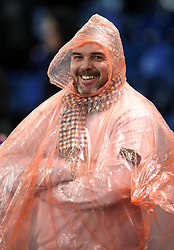 Fan wrapped up prior to kick-off during the Premier League match at Selhurst Park, London.