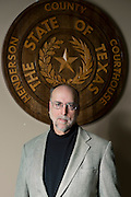 Judge Carter Tarrance photographed at his office in Athens, Texas on January 9, 2014. (Cooper Neill / for The Texas Tribune)
