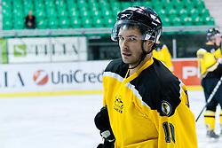 Igor Angelovski of HK Slavija during of ice-hockey match between HK Olimpija and HK Slavija in  SLOHOKEJ league, on September 21, 2011 at Hala Tivoli, Ljubljana, Slovenia. (Photo By Matic Klansek Velej / Sportida)