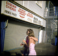 A mother and daughter in Coney Island.