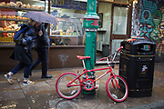 Wet day on Brick Lane in the East End of London, UK.
