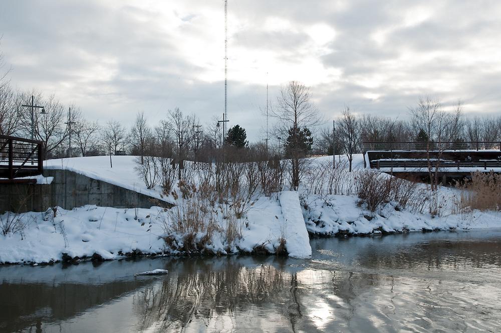Inner Harbor in winter