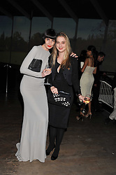 Left to right, ERIN O'CONNOR and DAISY DE VILLENEUVE at a dinner hosted by Calvin Klein Collection to celebrate the future Home of The Design Museum at The Commonwealth Institute, Kensington, London on 13th October 2011.