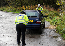 Pictured: PC Alan Meikle and PC Virgina McKenna worked as a team to carry out the checks.<br /> <br /> Police Scotland luanched a series of vehicle checks to be carried out by the Lothians and Scottish Borders Division Road Policing Unit. Inspector Roddie MacMillan oversaw the checks which are part of activity taking place across Scotland this week to help drivers get ready for winter, ensuring their vehicles are maintained and they are aware of the different hazards the changing seasons and weather can bring. <br /> <br /> Ger Harley | EEm 18 October 2016