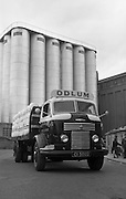 16/04/1964<br /> 04/16/1964<br /> 16 April 1964<br /> Odlum's Commer flatbed lorry leaving Odlum's Portlaoise, Co. Laois.