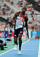 Great Britain's Nathan Douglas competes during the men's triple jump final at the 2010 European Athletics Championships at the Olympic Stadium in Barcelona on July 29, 2010