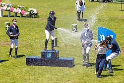 Podium Derby, Smith Holly, GBR, Delmott Nicolas, FRA, Fuchs Martin, SUI<br /> CSIO La Baule 2021<br /> © Hippo Foto - Dirk Caremans<br />  12/06/2021