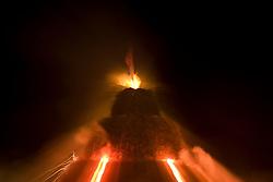 L'accensione della FÚcara: avviene attraverso una batteria - fiaccolata. La FÚcara, la cui costruzione inizia la mattina del 7 gennaio, Ë dedicata a Sant'Antonio Abate ed Ë costituita da un falÚ realizzato con fascine di tralci di vite (sarmente) recuperate dalla rimonta dei vigneti. Sulla cima della fÚcara, la mattina della Vigilia, viene issata un'artistica bandiera sulla quale Ë l'immagine del Santo. Una volta accesa, la FÚcara arde tutta la notte dando vita al fenomeno detto delle fasciddre, le faville che, nell'aria, somigliano ad una pioggia di fuoco. (fonte http://www.comune.novoli.le.it/focara/storia_focara.php).