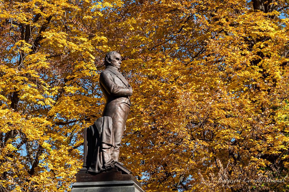 Daniel Wesbster monument in Central Park