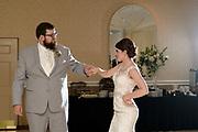bride and groom wedding reception first dance by Tallmadge wedding photographer, Akron wedding photographer Mara Robinson Photography