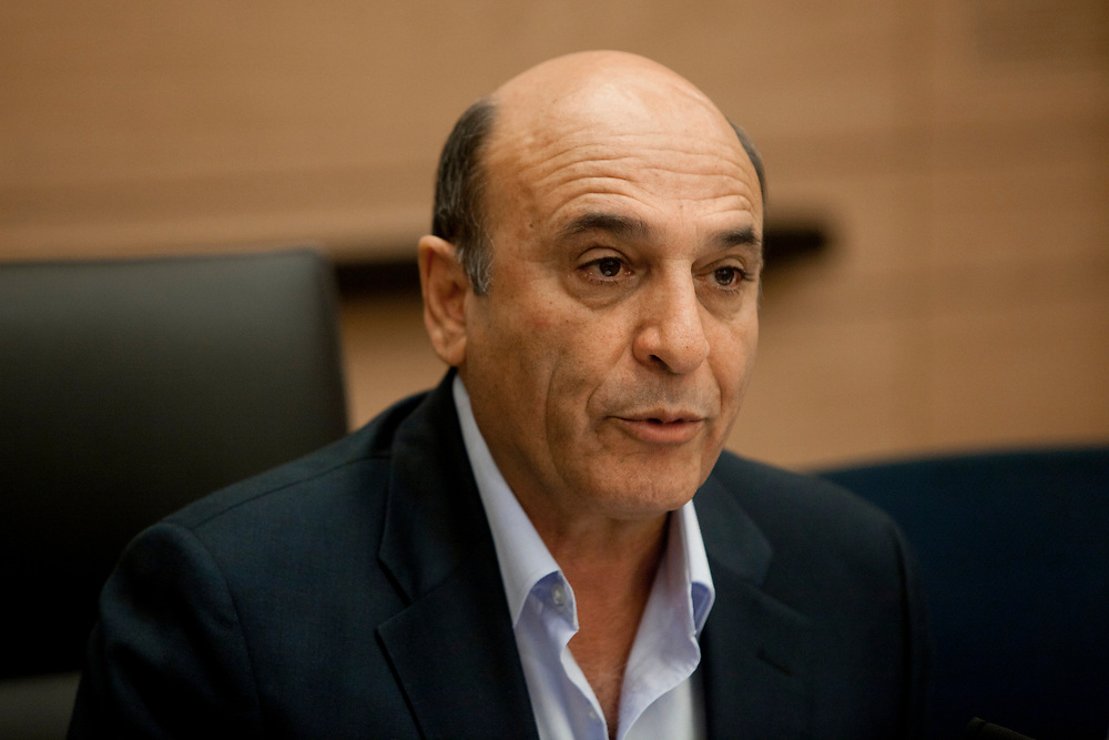 Israeli praliament member and former Defense Minister Shaul Mofaz of Kadima party speaks during a session of the Foreign Affairs and Defense Committee at the Knesset, Israel's parliament in Jerusalem, on September 4, 2011.