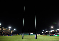 A general view of Rodney Parade, home of Dragons<br /> <br /> Photographer Simon King/Replay Images<br /> <br /> Guinness PRO14 Round 14 - Dragons v Glasgow Warriors - Friday 9th February 2018 - Rodney Parade - Newport<br /> <br /> World Copyright © Replay Images . All rights reserved. info@replayimages.co.uk - http://replayimages.co.uk