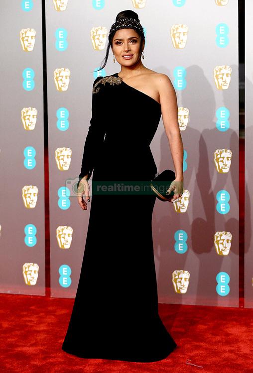 Salma Hayek attending the 72nd British Academy Film Awards held at the Royal Albert Hall, Kensington Gore, Kensington, London.