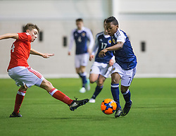 Wales Keenan Patten and Scotland's Karamoko Dembele. Scotland 2 v 2 Wales, Under 16 Victory Shield, Oriam 1/11/2016.