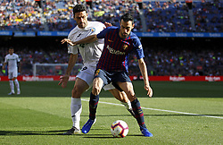May 12, 2019 - Barcelona, Spain - Sergio Busquets and Molina during the match between FC Barcelona angd Getafe, corresponding to the round 37 of the Liga Santander, played at the Camp Nou Stadium, on 12th May 2019, in Barcelona, Spain. (Credit Image: © Joan Valls/NurPhoto via ZUMA Press)