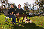 Jan and Caryl Panman Chateau Rives-Blanques. Limoux. Languedoc. Owner winemaker. France. Europe.