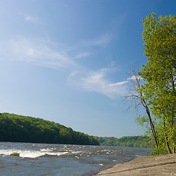 The Connecticut River in Holyoke Massachusetts USA