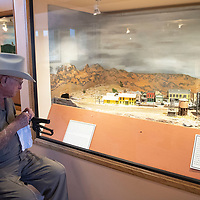 Tom Burns visits the Gallup Cultural Center Thursday, March 5 at the reopening of the museum.
