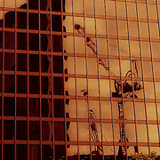 London's building. A reflection of a crane in The Leadenhall Building.<br /> <br /> Shot on Iphone 6.