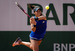 May 22, 2019 - Paris, FRANCE - Heather Watson of Great Britain in action during the first qualifications round at the 2019 Roland Garros Grand Slam tennis tournament (Credit Image: © AFP7 via ZUMA Wire)