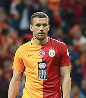 Ziraat Turkish cup semi final second leg match between Galatasaray and Caykur Rizespor at Turk Telekom Arena in Istanbul , Turkey , on May 04 , 2016.<br /> Final Score : Galatasaray 0 - Caykur Rizespor 0<br /> Pictured: Lukas Podolski of Galatasaray.