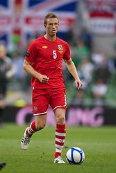 DUBLIN, REPUBLIC OF IRELAND - Friday, May 27, 2011: Wales' Danny Collins in action against Northern Ireland during the Carling Nations Cup match at the Aviva Stadium (Lansdowne Road). (Photo by David Rawcliffe/Propaganda)
