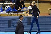 DESCRIZIONE : Torino Campionato 2015/16 Serie A Beko Lega A Manital Auxilium Torino -  Grissin Bon Reggio Emilia<br /> GIOCATORE : Claudia Angiolini<br /> CATEGORIA : Ritratto Before Pregame<br /> SQUADRA : Sky Sport TV<br /> EVENTO : LegaBasket Serie A Beko 2015/2016<br /> GARA : Manital Auxilium Torino - Grissin Bon Reggio Emilia<br /> DATA : 05/10/2015<br /> SPORT : Pallacanestro<br /> AUTORE : Agenzia Ciamillo-Castoria/GiulioCiamillo