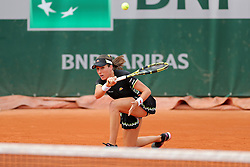 May 29, 2019 - Paris, France - Paris, France 29th May. Johanna Konta (GBR) gets down on one knee during the French Open Tennis at Stade Roland-Garros, Paris on Wednesday 29th May 2019. (Credit: Jon Bromley | MI News) (Credit Image: © Mi News/NurPhoto via ZUMA Press)