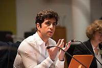 DEU, Deutschland, Germany, Berlin, 13.01.2016: Deutscher Bundestag, Kultur- u. Medienausschuss, Jaafar Abdul Karim, Journalist und Moderator bei der Deutschen Welle, bei einem öffentlichen Fachgespräch zu rechtspopulistischen Übergriffen auf Journalisten.