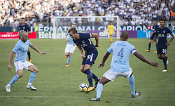 July 29, 2017 - Nashville, Tennessee, U.S.A - Tottenham player trying to get past 2 Manchester City's defenders. (Credit Image: © Hoss Mcbain via ZUMA Wire)