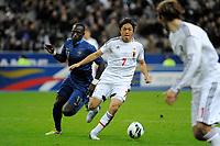 FOOTBALL - FRIENDLY GAME 2012 - FRANCE v JAPAN - STADE DE FRANCE ( SAINT DENIS ) FRANCE - 12/10/2012 - PHOTO JEAN MARIE HERVIO / REGAMEDIA / DPPI - YASUHITO ENDO (JAP) / MOUSSA SISSOKO (FRA)