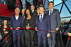 October 5, 2017 - Nice, France - Jean Pierre Rivere (president de l OGC Nice) - Eric Ciotti (depute LR) - Laura Flessel (Ministre des sports) - Nathalie Boy de la Tour (presidente de la Ligue de football professionnelle) - Christian Estrosi  (Credit Image: © Panoramic via ZUMA Press)