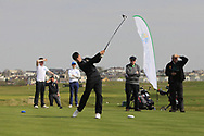 Luke Kelly (RBAI) on the 1st tee during the Final of the Irish Schools Senior Championship at Portstewart Golf Club, Portstewart, Co Antrim on Tuesday 23rd April 2019.<br /> Picture:  Thos Caffrey / www.golffile.ie