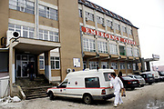 Kosovo health employees started hunger-strike on Tuesday, Mar 2, 2009, after the government failed to increase their salaries as promised in October 2008. Some 13,247 medical workers in Kosovo restarted their strike on Tuesday for the 3rd time, saying they would continue until their demand for better pay is met. <br /> <br /> Kosovo yet has no law on health insurance and even medical workers have no coverage for medical interventions.<br /> Kosovo, which declared independence from Serbia one year ago, is plagued by poverty and corruption, also affecting the decrepit health sector. The average Kosovo monthly wage is 220 Euros and doctors are paid only slightly better, 250 Euros, meanwhile they use to work in horrible conditions in state-run hospitals. As a result, many of them only keep their jobs in state hospitals in order to direct as many patients as possible to see them in the hundreds of better-equipped private clinics.<br /> The health system in Kosovo is poor with many patients looking for treatment abroad. Health trade unions have been warning for a long time about critical conditions in the health system, but no adequate policies have been applied so far to improve the situation. (Photo/ Vudi Xhymshiti)