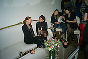 DEE STIRLING; GILLIAN CROTTY; TATIANA STEBANOVA; LILIYA RULNOLDS - THE LAUNCH OF THE KRUG HAPPINESS EXHIBITION AT THE ROYAL ACADEMY, London. 12 December 2011.