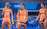 TOKIO -  Maria Verschoor (NED) met vlechten  tijdens de wedstrijd dames , Nederland-India (5-1) tijdens de Olympische Spelen   .   COPYRIGHT KOEN SUYK